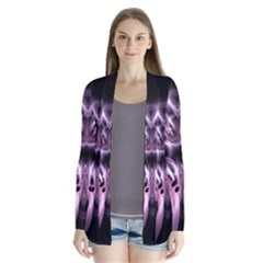 Angry Mantis Fractal In Shades Of Purple Cardigans