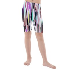 Randomized Colors Background Wallpaper Kids  Mid Length Swim Shorts