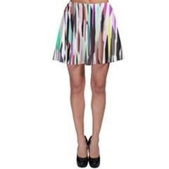 Randomized Colors Background Wallpaper Skater Skirt