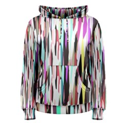 Randomized Colors Background Wallpaper Women s Pullover Hoodie
