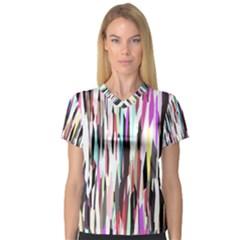 Randomized Colors Background Wallpaper Women s V-Neck Sport Mesh Tee