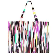 Randomized Colors Background Wallpaper Large Tote Bag