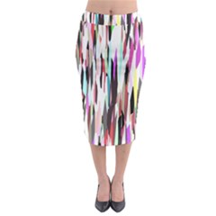 Randomized Colors Background Wallpaper Midi Pencil Skirt