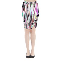 Randomized Colors Background Wallpaper Midi Wrap Pencil Skirt