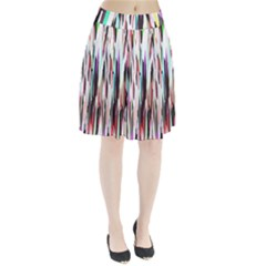 Randomized Colors Background Wallpaper Pleated Skirt