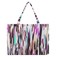 Randomized Colors Background Wallpaper Medium Zipper Tote Bag