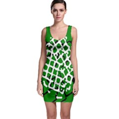 Abstract Clutter Sleeveless Bodycon Dress