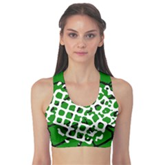 Abstract Clutter Sports Bra