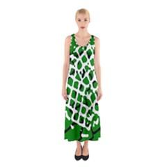 Abstract Clutter Sleeveless Maxi Dress