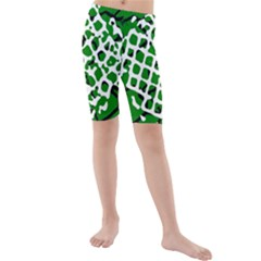 Abstract Clutter Kids  Mid Length Swim Shorts