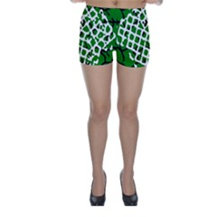 Abstract Clutter Skinny Shorts