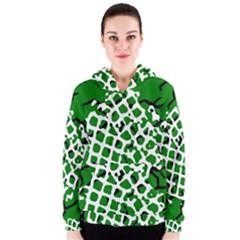 Abstract Clutter Women s Zipper Hoodie