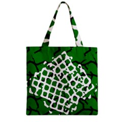 Abstract Clutter Zipper Grocery Tote Bag