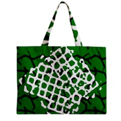 Abstract Clutter Zipper Mini Tote Bag