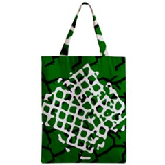 Abstract Clutter Zipper Classic Tote Bag