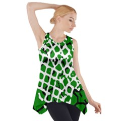 Abstract Clutter Side Drop Tank Tunic