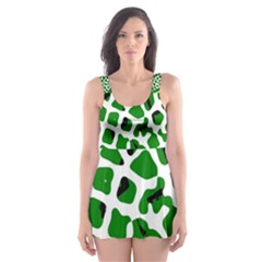 Abstract Clutter Skater Dress Swimsuit