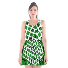 Abstract Clutter Scoop Neck Skater Dress