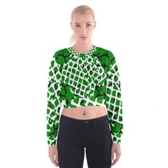Abstract Clutter Cropped Sweatshirt