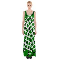 Abstract Clutter Maxi Thigh Split Dress