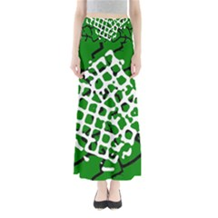 Abstract Clutter Maxi Skirts