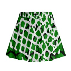 Abstract Clutter Mini Flare Skirt