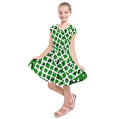 Abstract Clutter Kids  Short Sleeve Dress