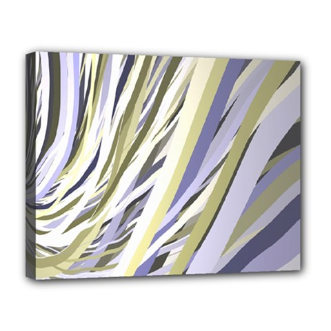 Wavy Ribbons Background Wallpaper Canvas 14  X 11