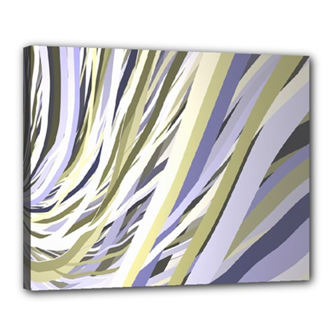 Wavy Ribbons Background Wallpaper Canvas 20  x 16