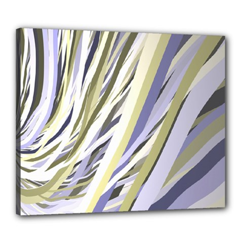 Wavy Ribbons Background Wallpaper Canvas 24  x 20