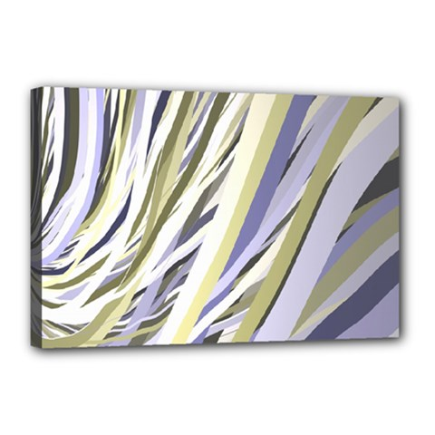Wavy Ribbons Background Wallpaper Canvas 18  X 12