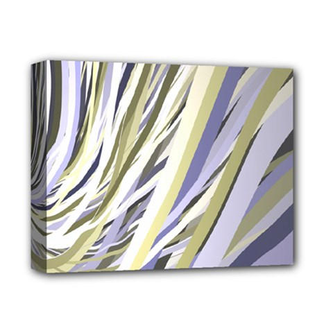 Wavy Ribbons Background Wallpaper Deluxe Canvas 14  x 11