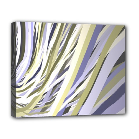 Wavy Ribbons Background Wallpaper Deluxe Canvas 20  x 16