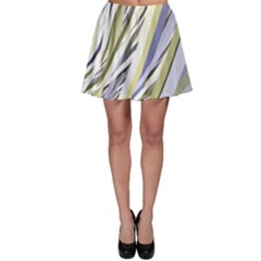 Wavy Ribbons Background Wallpaper Skater Skirt