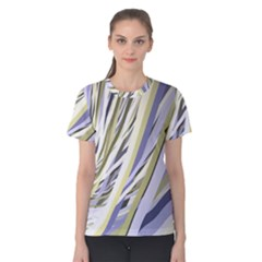 Wavy Ribbons Background Wallpaper Women s Cotton Tee