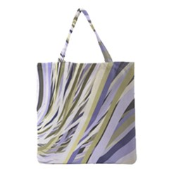 Wavy Ribbons Background Wallpaper Grocery Tote Bag