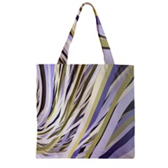 Wavy Ribbons Background Wallpaper Zipper Grocery Tote Bag