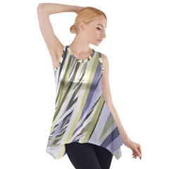 Wavy Ribbons Background Wallpaper Side Drop Tank Tunic