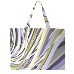 Wavy Ribbons Background Wallpaper Zipper Large Tote Bag
