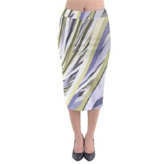 Wavy Ribbons Background Wallpaper Midi Pencil Skirt