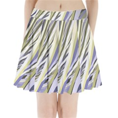 Wavy Ribbons Background Wallpaper Pleated Mini Skirt
