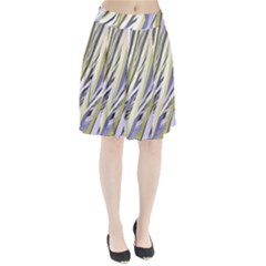 Wavy Ribbons Background Wallpaper Pleated Skirt
