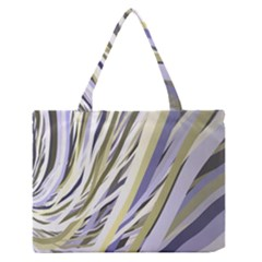 Wavy Ribbons Background Wallpaper Medium Zipper Tote Bag