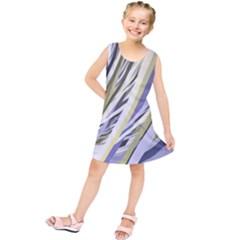Wavy Ribbons Background Wallpaper Kids  Tunic Dress