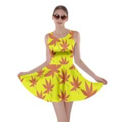 Autumn Background Skater Dress