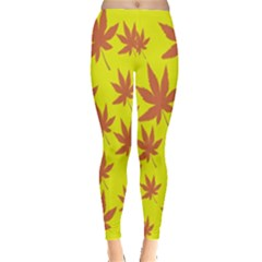 Autumn Background Leggings