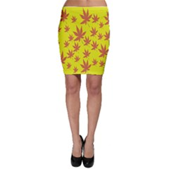 Autumn Background Bodycon Skirt