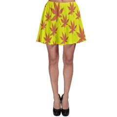 Autumn Background Skater Skirt