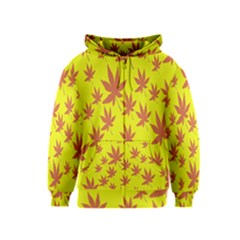 Autumn Background Kids  Zipper Hoodie