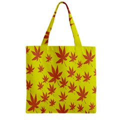 Autumn Background Zipper Grocery Tote Bag